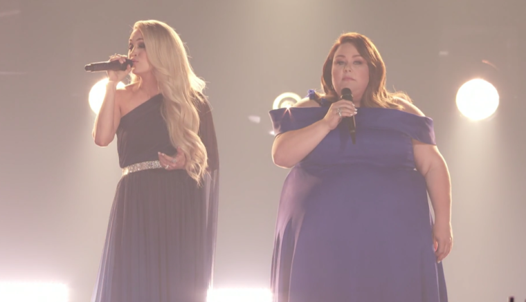 Chrissy Metz and Carrie Underwood
