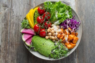 salad, vegetables