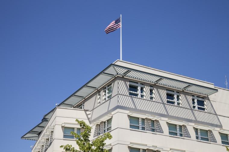 US embassy germany, US flag