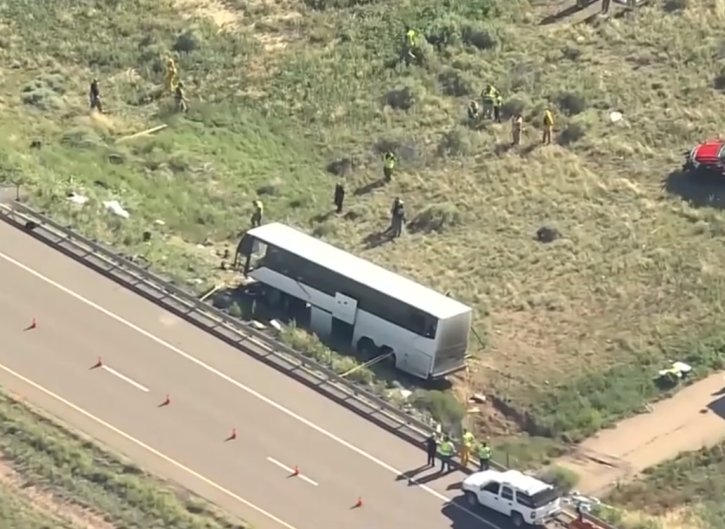 Two dead, 13 injured after church charter bus crashes on way