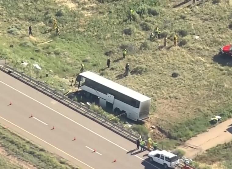 Church charter bus crash