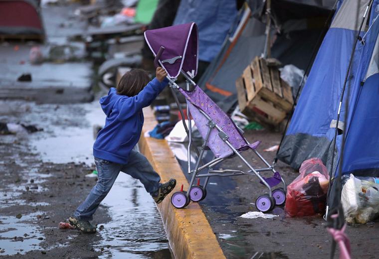 Tijuana, migrant children