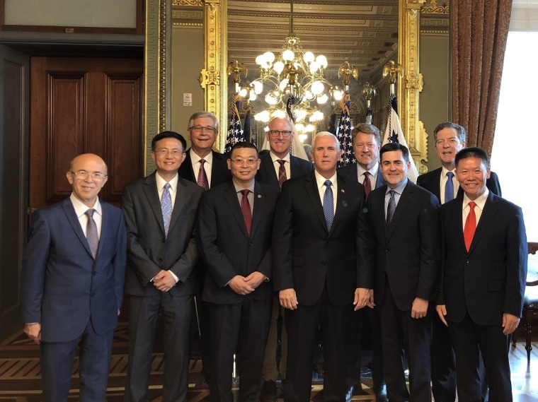 Pence meets with China advocates