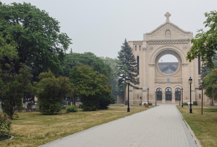 St. Boniface Cathedral in Winnipeg, Manitoba