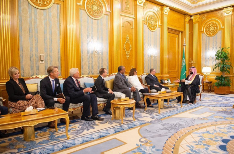 evangelical leaders with Saudi Crown prince