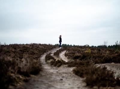 road, person, alone