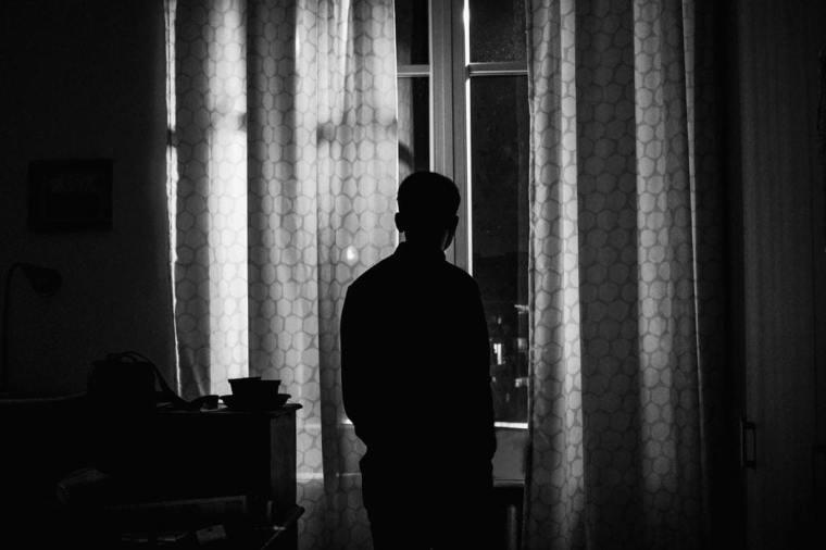 man, silhouette, alone