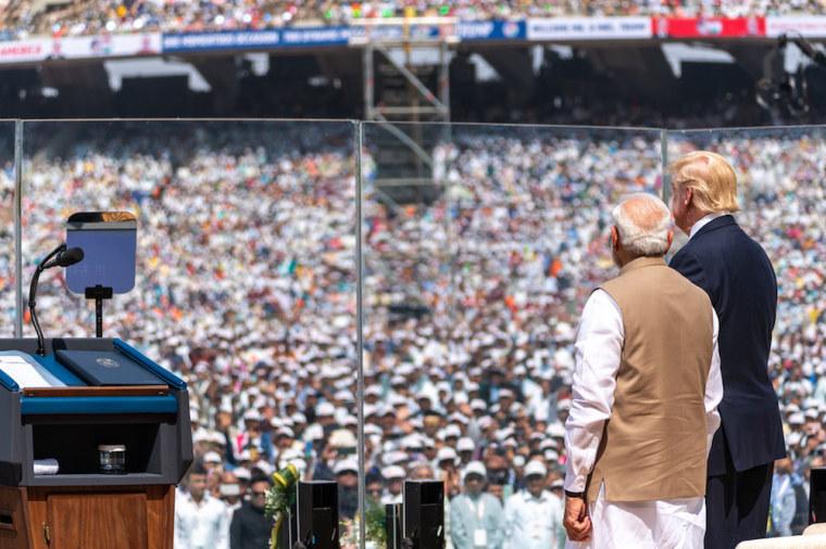 trump in india, modi