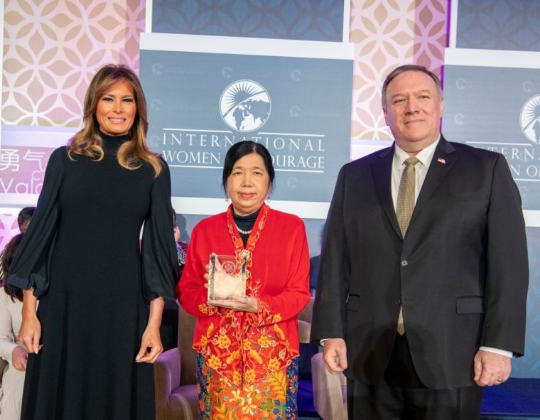 Wife of Abducted Malaysian Pastor Receives U.S. State Department's International Women of Courage Award Alongside 11 Other Women