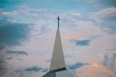 steeple, cross