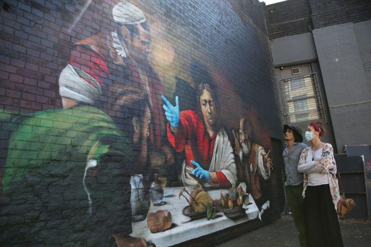 mural, coronavirus