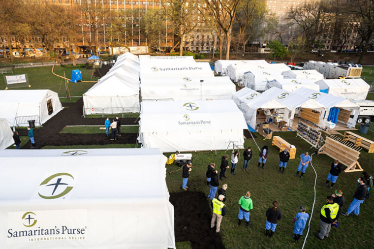 Samaritan's Purse Ordered to Pay State Taxes After Discharging Its Last Patient from New York City Field Hospital