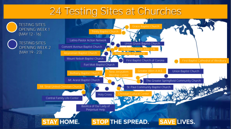 24 Churches to Serve as Coronavirus Testing Sites in Predominantly Minority Communities in New York