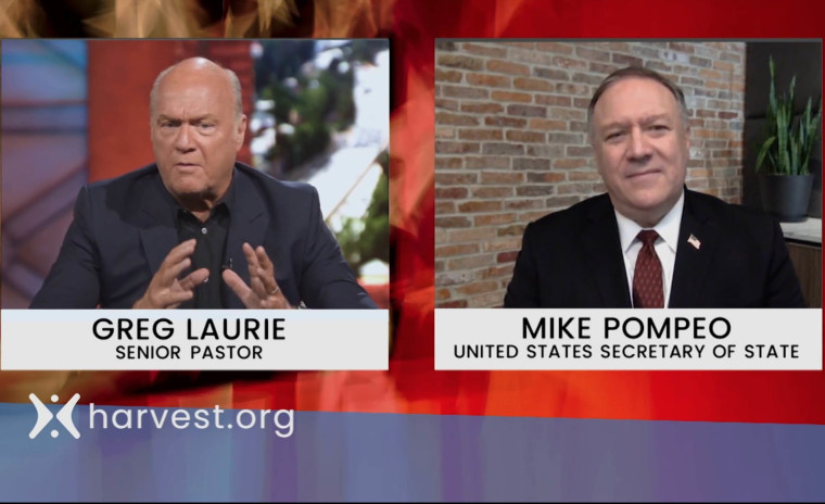 Secretary of State Mike Pompeo Says He Relies on God to Give Him 'Wisdom and Perseverance' to Help 'Protect the American People' in Interview With Greg Laurie
