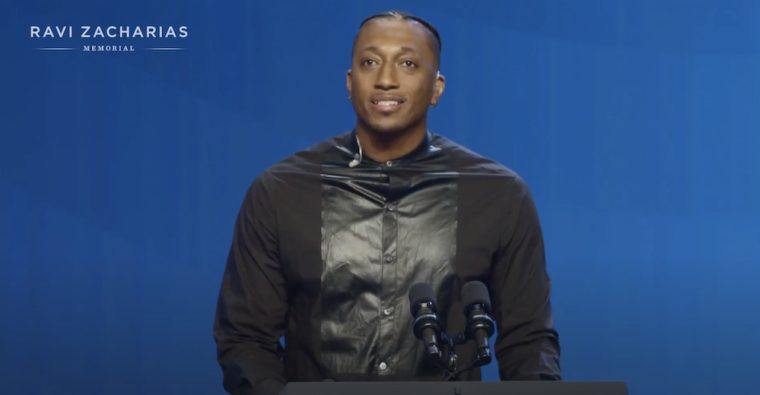 "WATCH: Lecrae Closes Out Ravi Zacharias' Memorial Service With Tribute Performance of ""Tell the World"""