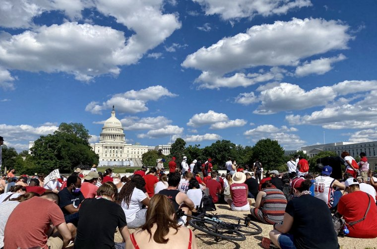 Hundreds of Evangelicals, Including Pastor David Platt, March in D.C. Against Racism and Police Brutality