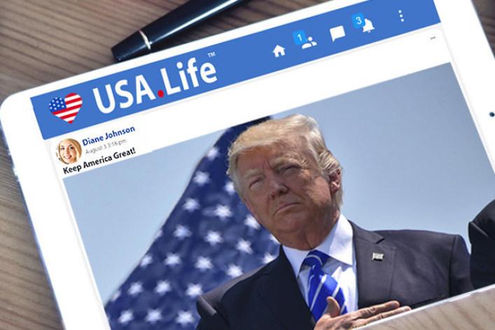 The new alternative social media platform USA.Life