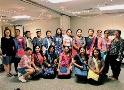 Burmese Christian - sewing bag