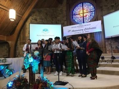Burmese Christian singing in Tulsa church