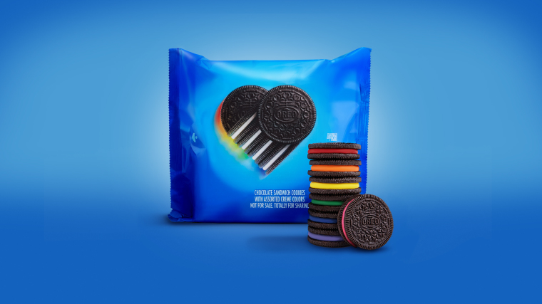 Here We Go: Oreo Releases Limited Edition Rainbow-Colored Cookies to Celebrate LGBT History Month