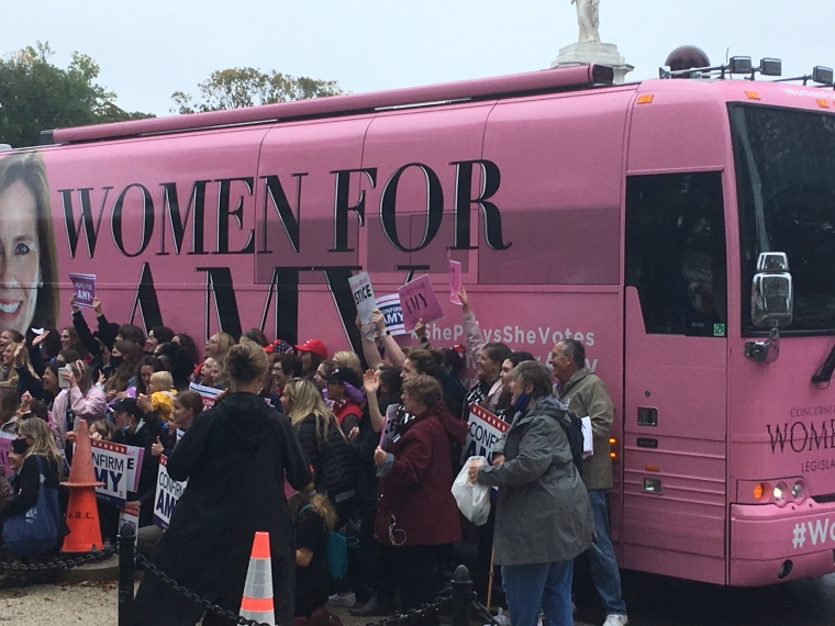 Conservative Women Hold Prayer Event on Capitol Hill as Amy Coney Barrett Confirmation Hearings Begin