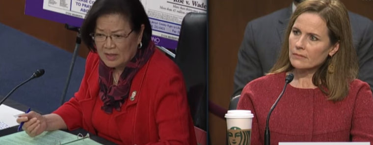 Sen. Mazie Hirono at Amy Coney Barrett confirmation hearing