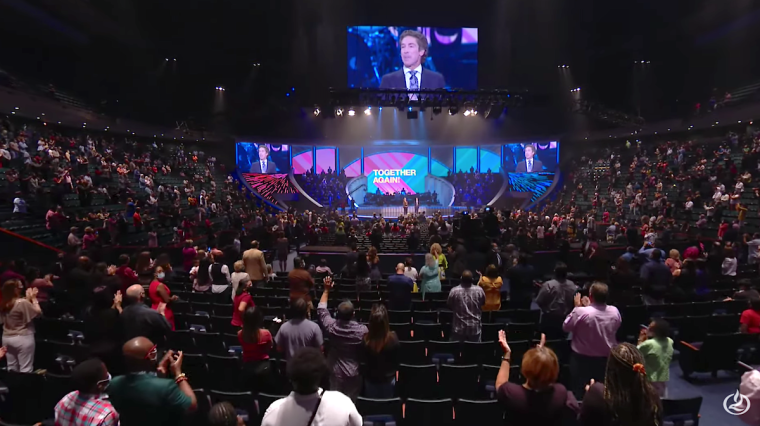 Lakewood Church Returns to In-Person Services After Seven Months on Coronavirus Lockdown