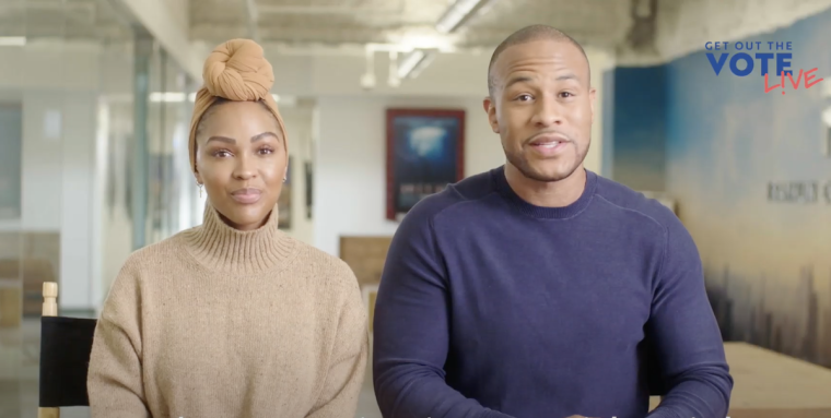 "WATCH: DeVon Franklin and Meagan Good Endorse Joe Biden and Kamala Harris While Hosting Virtual ""Get Out the Vote: A Soul of the Nation Gospel Concert Special"" Event"