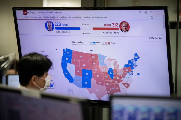 Election night map