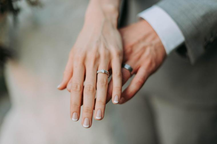 marriage, rings, couple