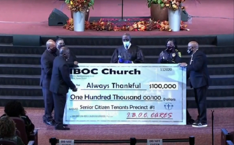 Inspiring Body of Christ Church in Dallas Commits 0,000 at Thanksgiving Service to Make Sure Senior Citizens Aren't Evicted