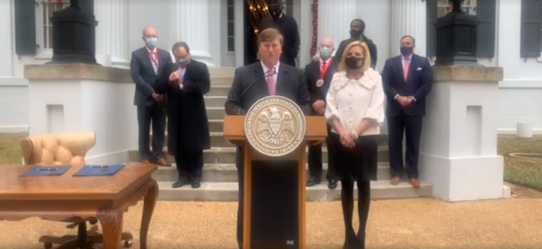 Mississippi Governor Declares December 20 a Statewide Day of Prayer, Humility, and Fasting