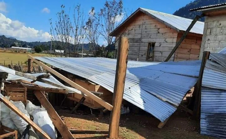 Houses destroyed in Chiapas by 'Traditionalist Catholics'