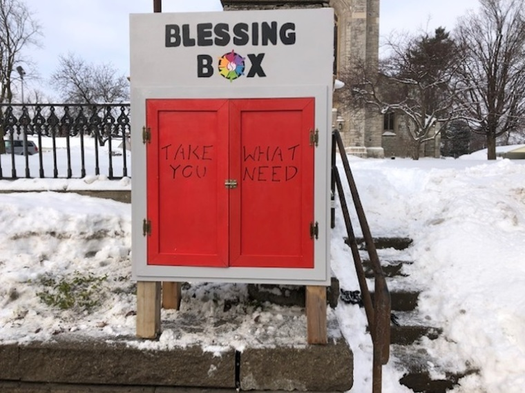 Four New York Churches Join Together to Install 'Blessing Box' to Provide Food and Clothing for People in Need Amid Coronavirus Lockdowns