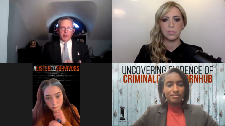 Sex Trafficking Survivors and Advocates Detail How Pornhub 'Built an Empire on Criminal Copyright Violations' by Exploiting Children and Monetizing Sexual Abuse