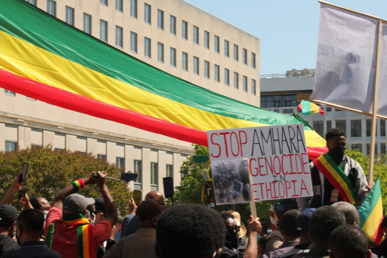 Protesters Outside State Department Urge Biden Administration to Take Action Against Ethiopia for 'Ongoing Genocide and Ethnic Cleansing' of Amhara and Orthodox Christians