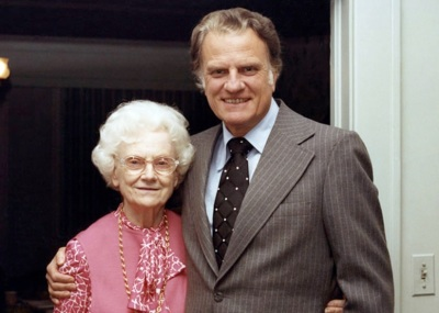 Billy Graham and his mother