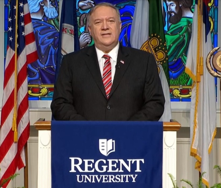 Former Secretary of State Mike Pompeo Tells Graduates of Regent University Not to Compromise Their Beliefs Even Though Religious Liberty is 'Increasingly Under Attack'