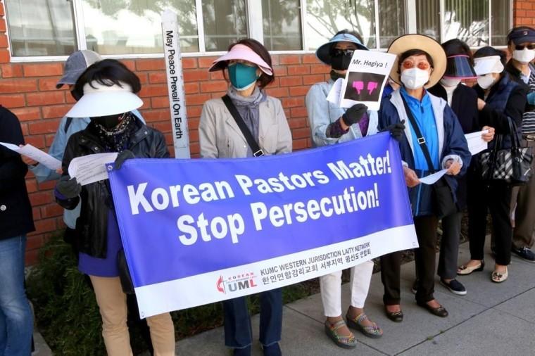 Korean UMC Protest