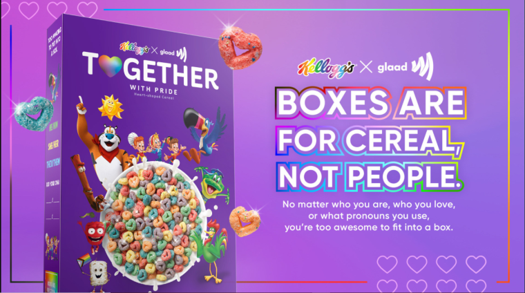 Kellogg's Together With Pride cereal