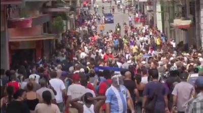 Cuban protest