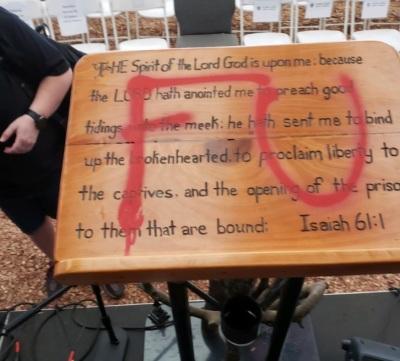 Global Vision Church Vandalism