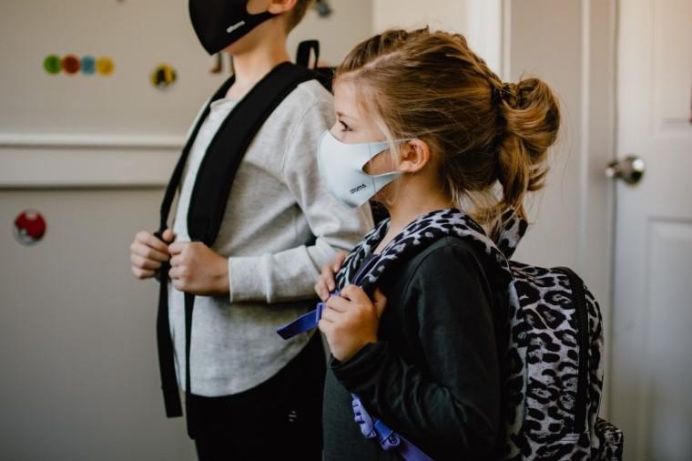 school, classroom, mask, student