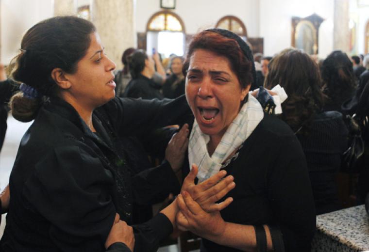 egypt church fire