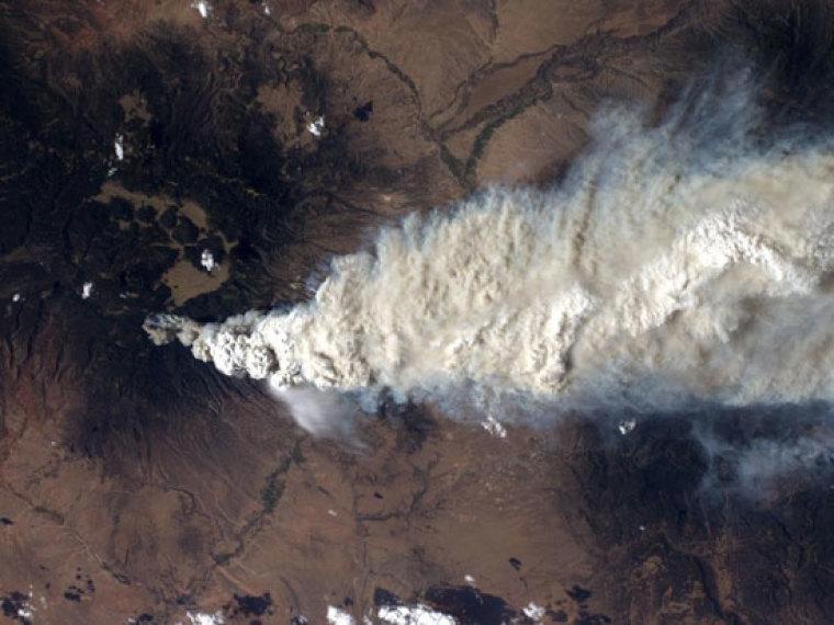 Los Alamos Fire: Satellite Pictures