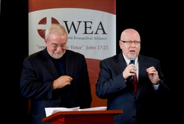 Sojourners and WEA, Jim Wallis and Dr. Geoff Tunnicliffe