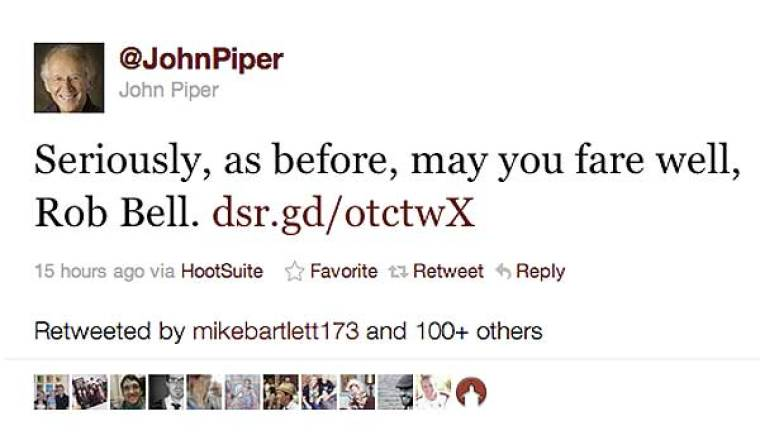 John Piper Tweets on Rob Bell