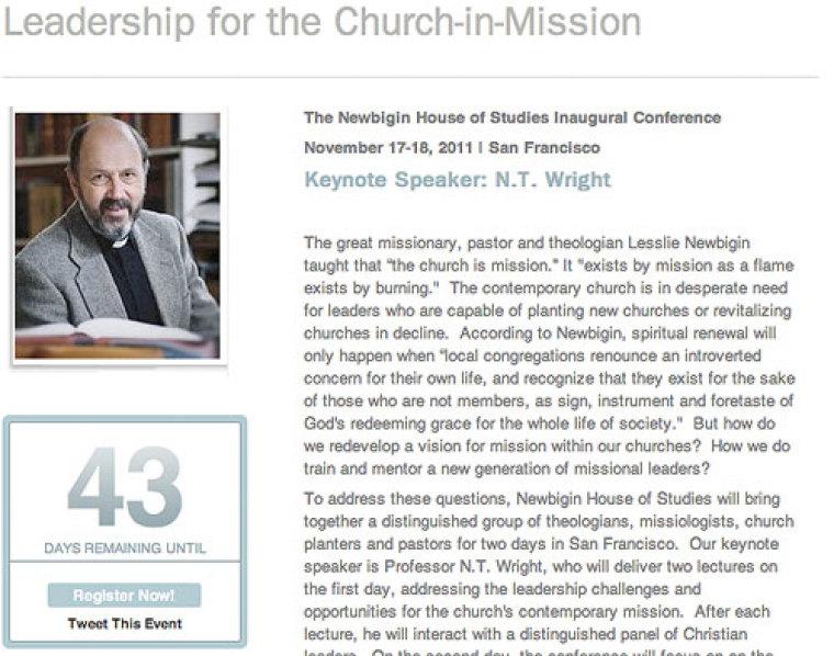 Newbigin Conference