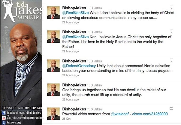 TD Jakes Twitter Debate