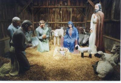 Niederman Family Farm nativity scene